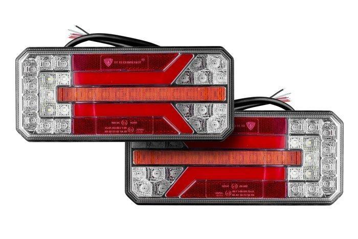 Lampa zespolona LED tylna z dynamicznym kierunkowskazem para 12555