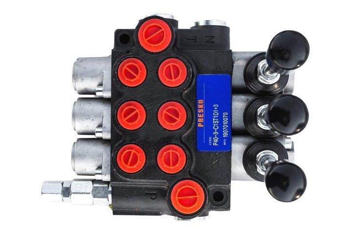 Rozdzielacz hydrauliczny P40 3 sekcyjny 40 L